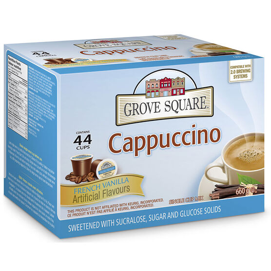 Grove Square Cappuccino - French Vanilla - 44 pack