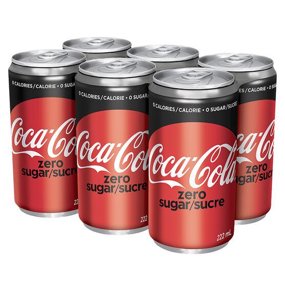 Coke Zero - 6 x 222ml