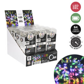 Danson Indoor Battery Operated LED Lights - Multicolour - 64s