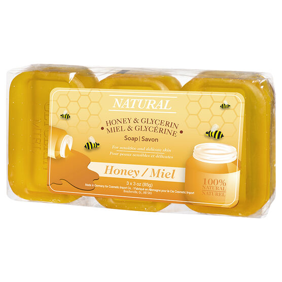 Honey Glycerine Soap - 3 x 85g
