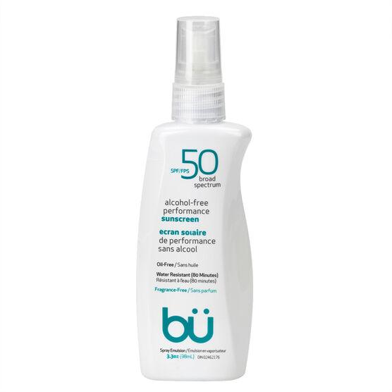 bu Spray Sunscreen Fragrance Free - SPF 50 - 98ml