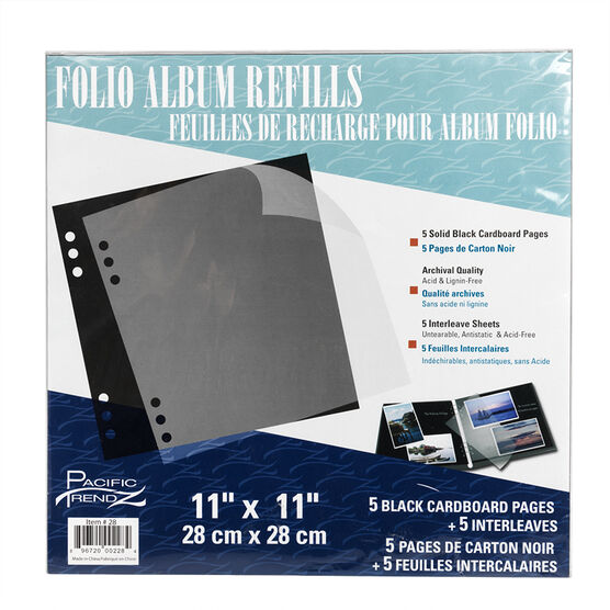 Pacific Trendz Folio 11x11 Refill 5 Pack - 1UP/11X11