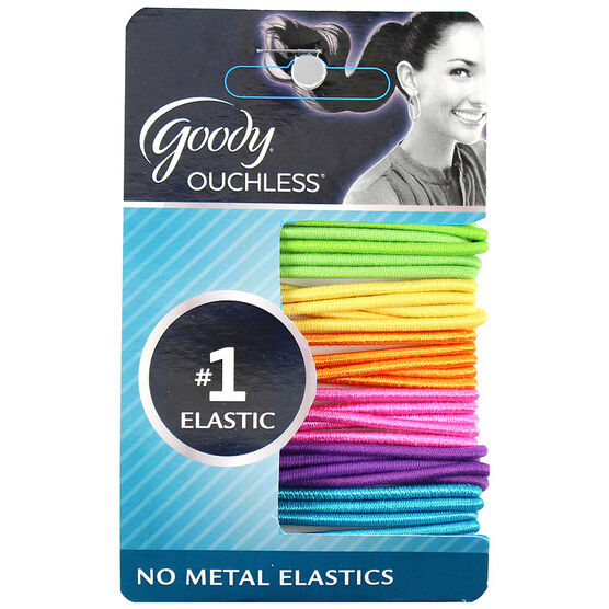 Goody Ouchless Ribbon Elastics - Neon - 2mm/30's