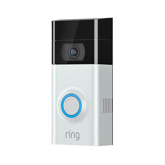 Ring Video Doorbell Security Camera - Satin - 8VR1S7