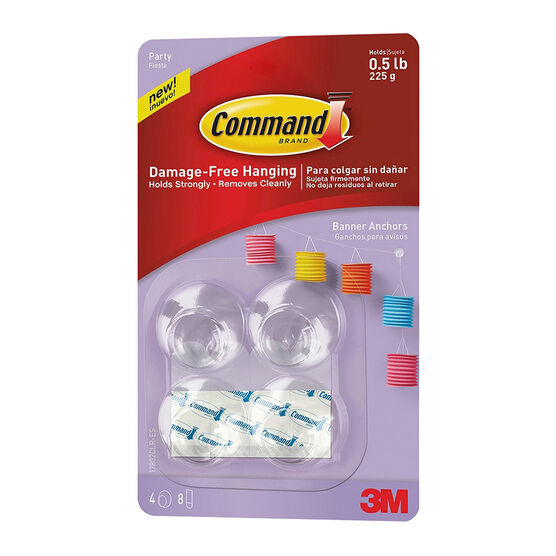 Command Party Banner Anchors - 4 pack