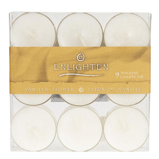 Enlighten Tealights - Vanilla Flower - 9 pack