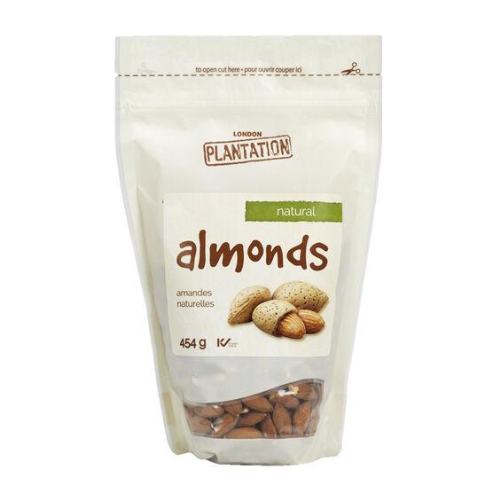 London Plantation Almonds - Natural - 454g
