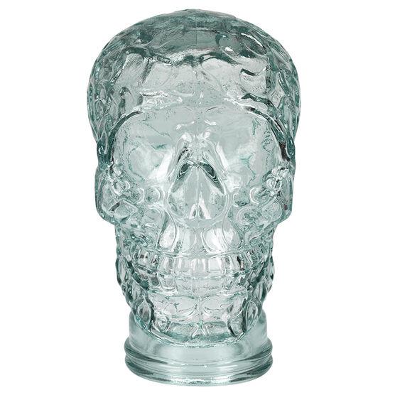 London Drugs Green Glass Skull - 26cm