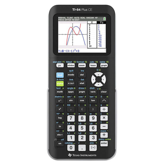 TI 84 Plus CE Graphing Calculator - Black - TI84PLUSCE