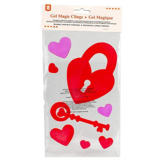 Valentine's Gel Magic Clings - Assorted