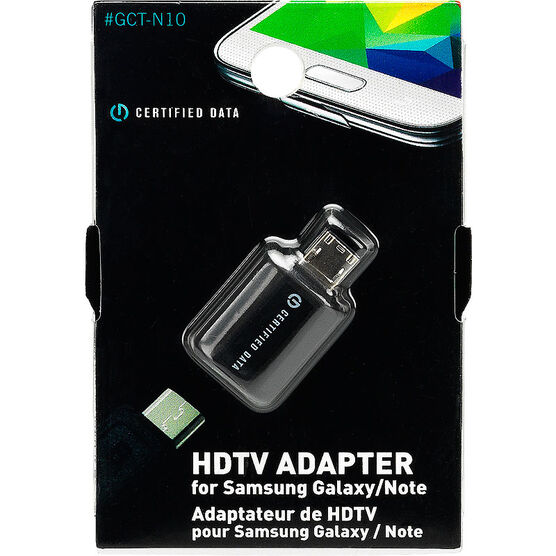 Certified Data HDTV Adapter for Samsung Galaxy/Note Devices - GCT-N10