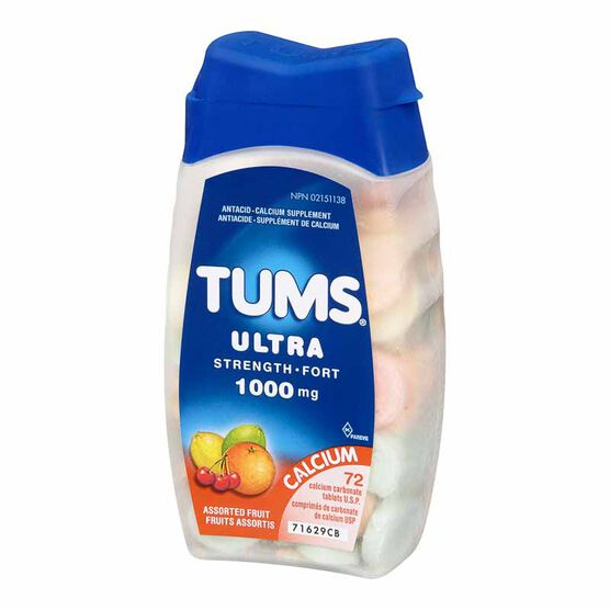 Tums Ultra - Assorted Fruit Flavours - 72's