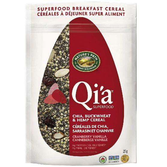 Nature's Path Qi'a Superfood Chia Buckwheat & Hemp Cereal - Cranberry Vanilla - 225g