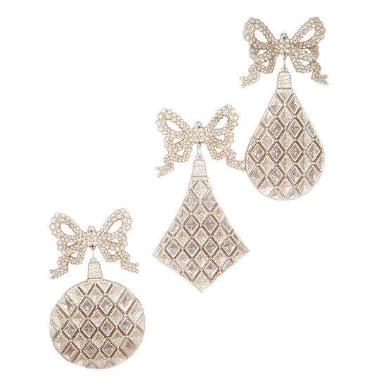 Modern Twist Drop Diamond Ornament - Rose Gold - 4-5in