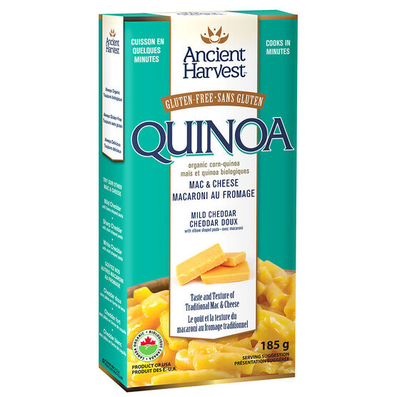 Ancient Harvest Gluten Free Quinoa Mac & Cheese - Mild Cheddar - 185g