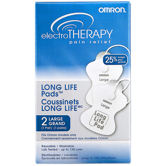 Omron ElectroTherapy Pain Relief Replacement Pads Large- PMLLPADCAN-L