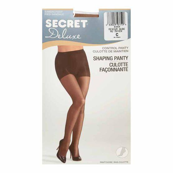 Secret Ultra Silky Shaping  Panty Hose - C - Medium Nude