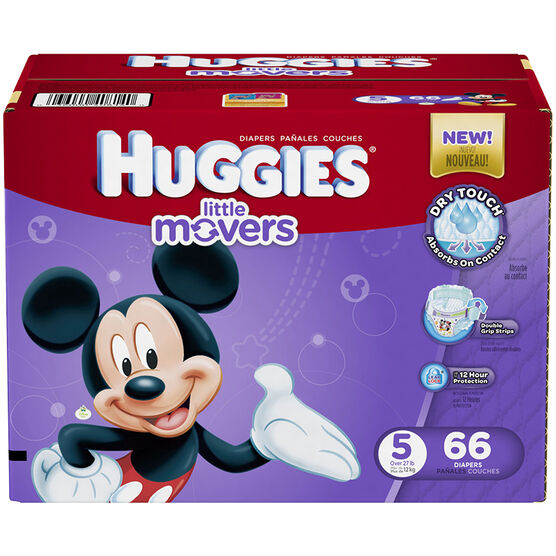 Huggies Little Movers Disposable Diaper - Size 5 - 66's