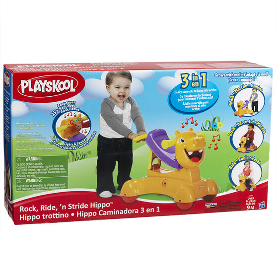Playskool Rock, Ride, 'n Stride Hippo Toy