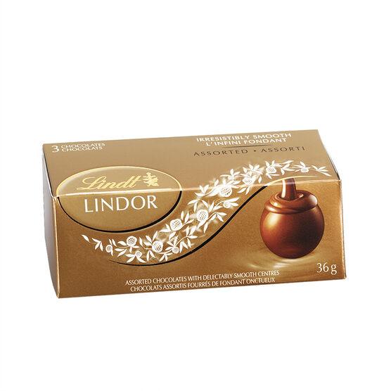Lindor 3 pack - Assorted Truffles - 36g
