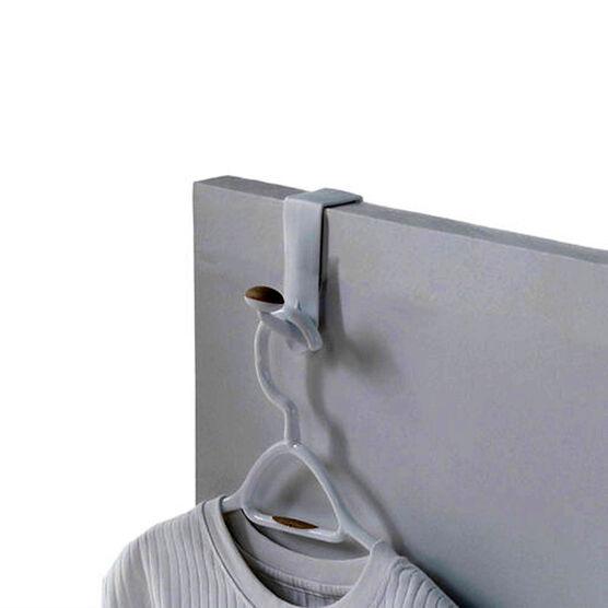 Non-Slip Over The Door Single Hook - White/Tan