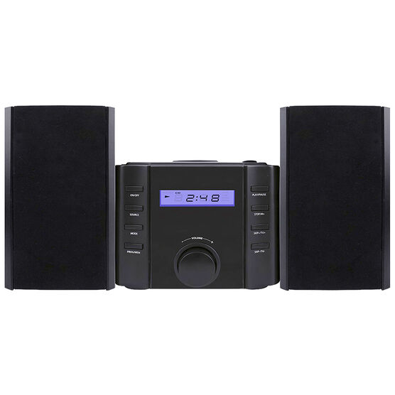 Sylvania Bluetooth Micro Speaker System - Black - SRCD804BT