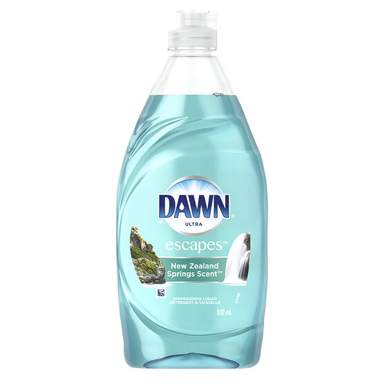 Dawn Escapes Dishwashing Liquid - New Zealand Springs - 532ml