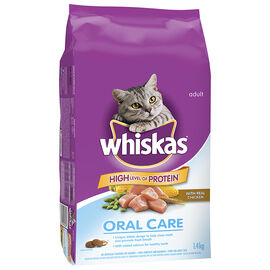 Whiskas Oral Care Dry Cat Food - Chicken - 1.4kg