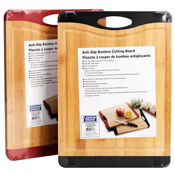 London Drugs Anti-Slip Bamboo Cutting Board - Assorted - 14.5 x 10 x 0.6inch