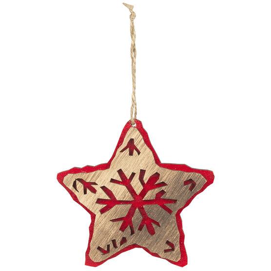Wild Berries Cutout Star Ornament - 10cm