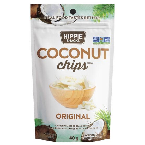 Hippie Snacks Coconut Chips - Original - 40g