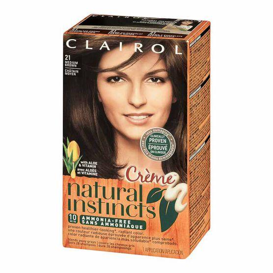 Clairol Natural Instincts Crème Hair Colour - 21 Medium Brown