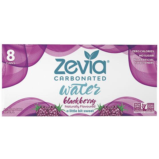 Zevia Carbonated Water - Blackberry - 8 x 355ml