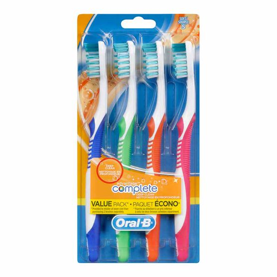 Oral-B Advantage Complete Deep Clean Toothbrushes - 4 pack