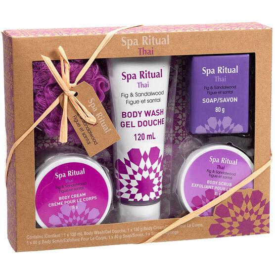 Spa Ritual Bath Gift Set - Thai - 5 piece