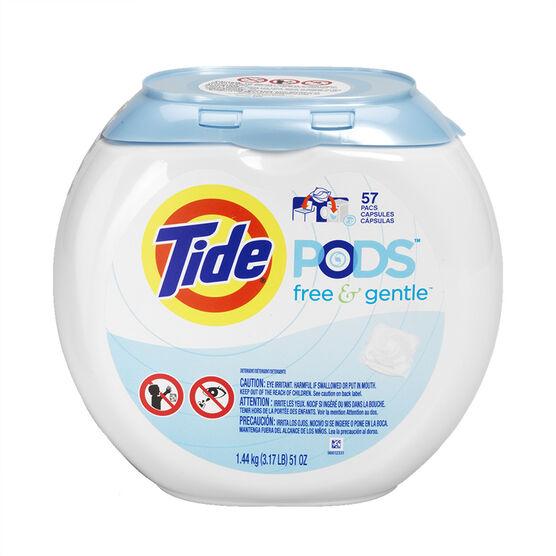 Tide Pods - Free & Gentle - 57's