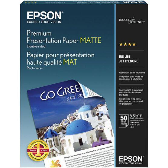 Epson Premium 2-Sided Matte Presentation Paper - 8.5 x 11inch - 50 sheets