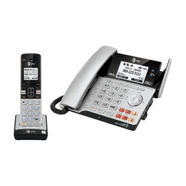 AT&T 2-Line Corded/Cordless Office Phone - Silver/Black- TL86103