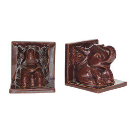 London Drugs Earthenware Bookends - Elephant - Set of 2