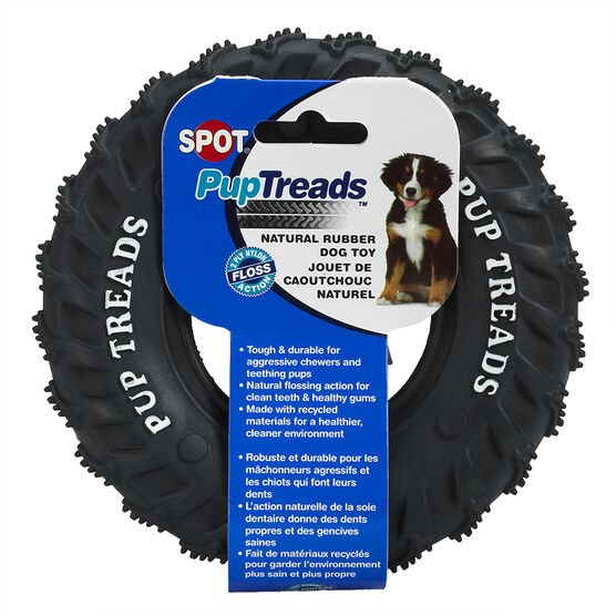 Pup Treads 6 inch Rubber Tire Toy For Puppies