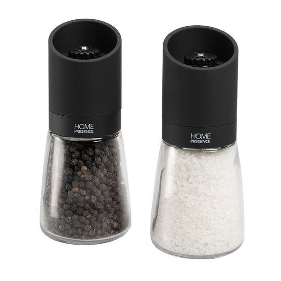 Home Presence Salt & Pepper Mill - Clear/Black
