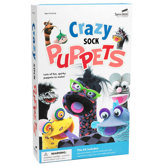 Spicebox Crazy Sock Puppets Kit