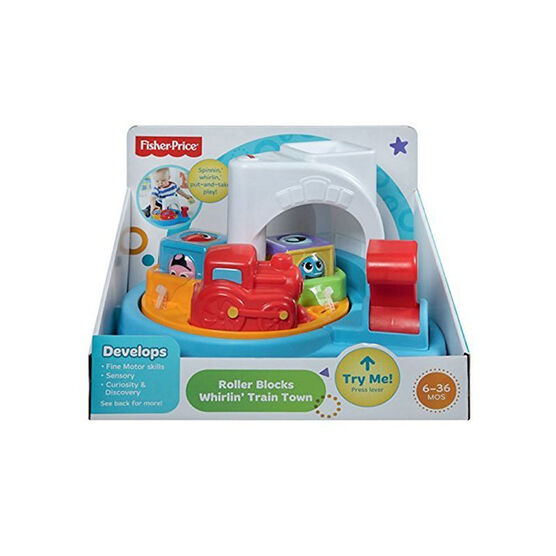 Fisher Price Roller Blocks Whirlin' Train Town