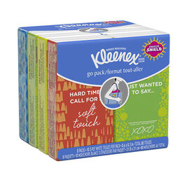 Kleenex Facial Tissue Pocket Pack - 8 x 10's
