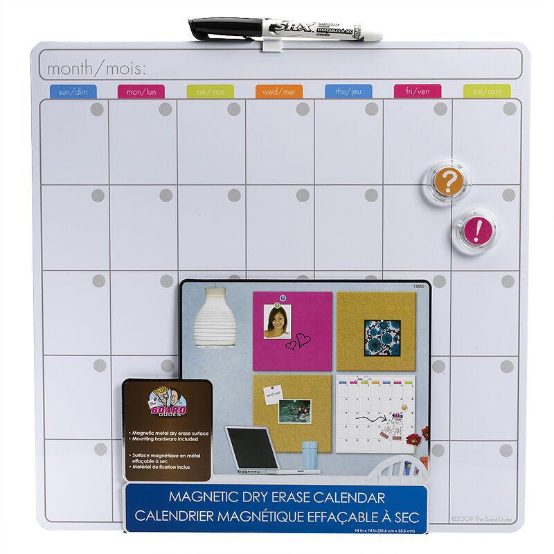 board dudes magnetic dryerase calendar 14 x 14inch