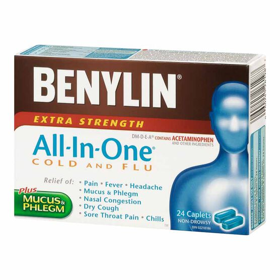 Benylin One All-in-One Cold & Flu Tablets - 24's