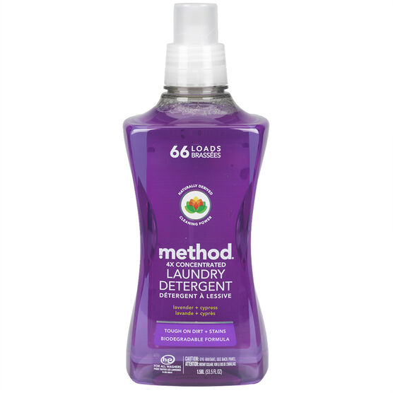 Method 4X Concentrated Laundry Detergent - Lavender & Cypress - 1.58L