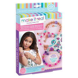 Make It Real Bedazzled! Beaded Charm Bracelet - Blooming Creativity
