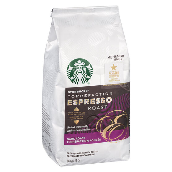 Starbucks Espresso Ground Coffee - Dark Roast - 340g