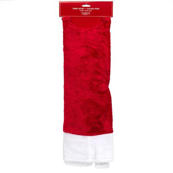 Christmas Plush Tree Skirt - Red - 42in